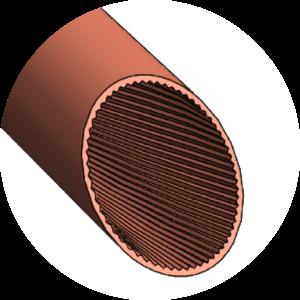grooved tube