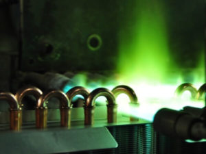 brazing of hvac coil manufacturing process